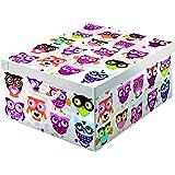 Kanguru 660 GU GUFETTI /HIBOU Boîte de rangement Plastique/Carton recyclable Multicolore 50 x 39 x 24 cm