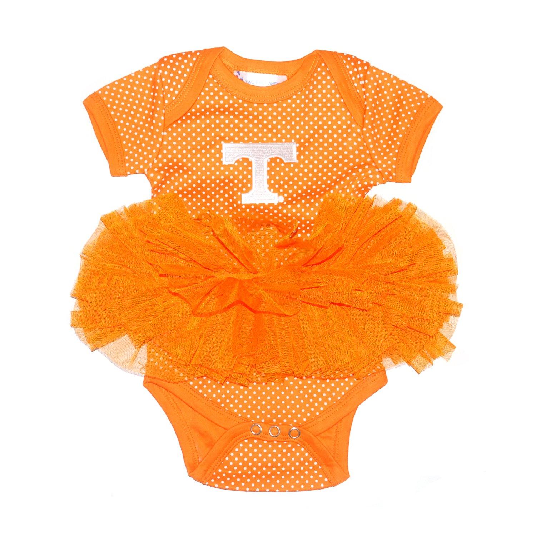 Two Feet Ahead Tennessee Volunteers Newborn Infant Polka Dot Tutu Creeper Bodysuit