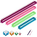 Readaeer Long Knitting Looms Set Craft Kit Tool with Hook Needle and Pompom Maker