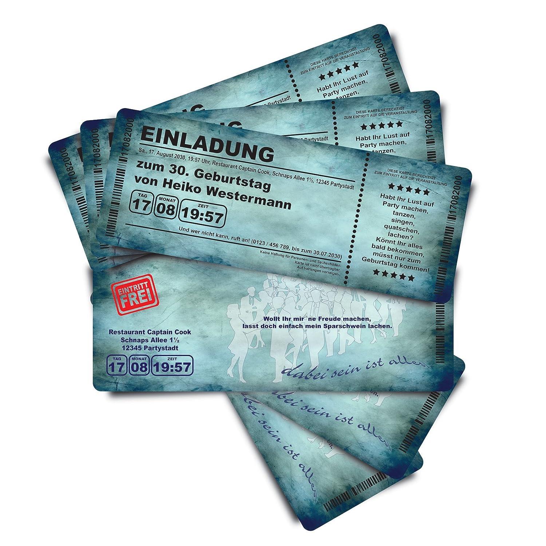 40 Geburtstagskarten Geburtstagseinladungen Einladungskarten  Grungy B'Day  blau Ticket Ticket Ticket Eintrittskarte Abriss-Coupon B076QBVQCY | Elegante Form  | Sale Outlet  | Shop  5481a0