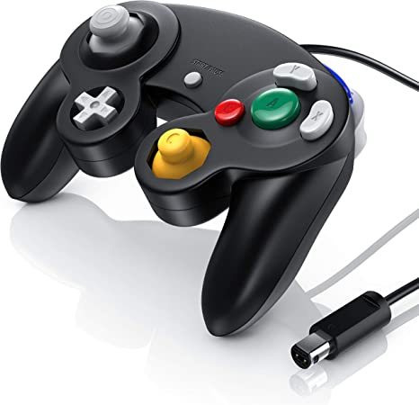 CSL - Gamepad controlador de GameCube de Nintendo- gamepad para Nintendo Wii - efecto de vibración - negro: Amazon.es: Videojuegos