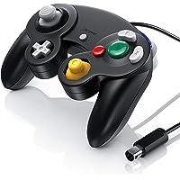 CSL - Gamepad controlador de GameCube de Nintendo- gamepad para Nintendo Wii - efecto de vibración - negro