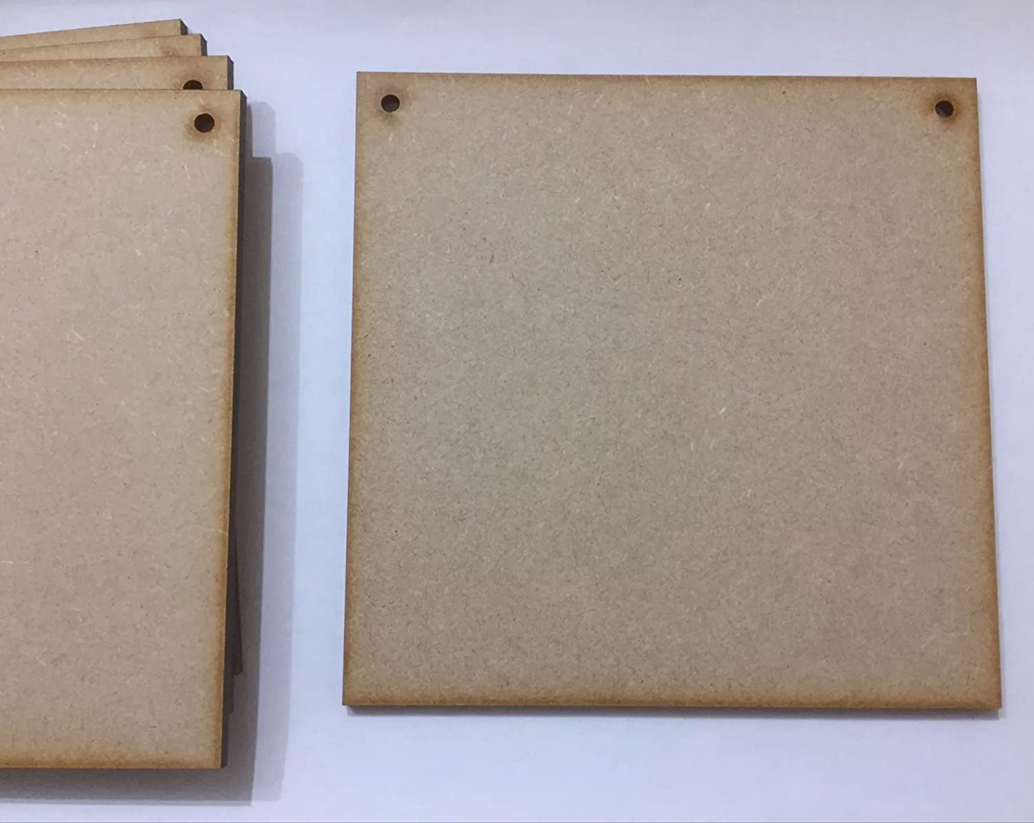 """2 X  10/"""" x 5/"""" HAND CRAFTED MDF WOODEN RECTANGLES SHAPE PLAQUES BLANKS"""
