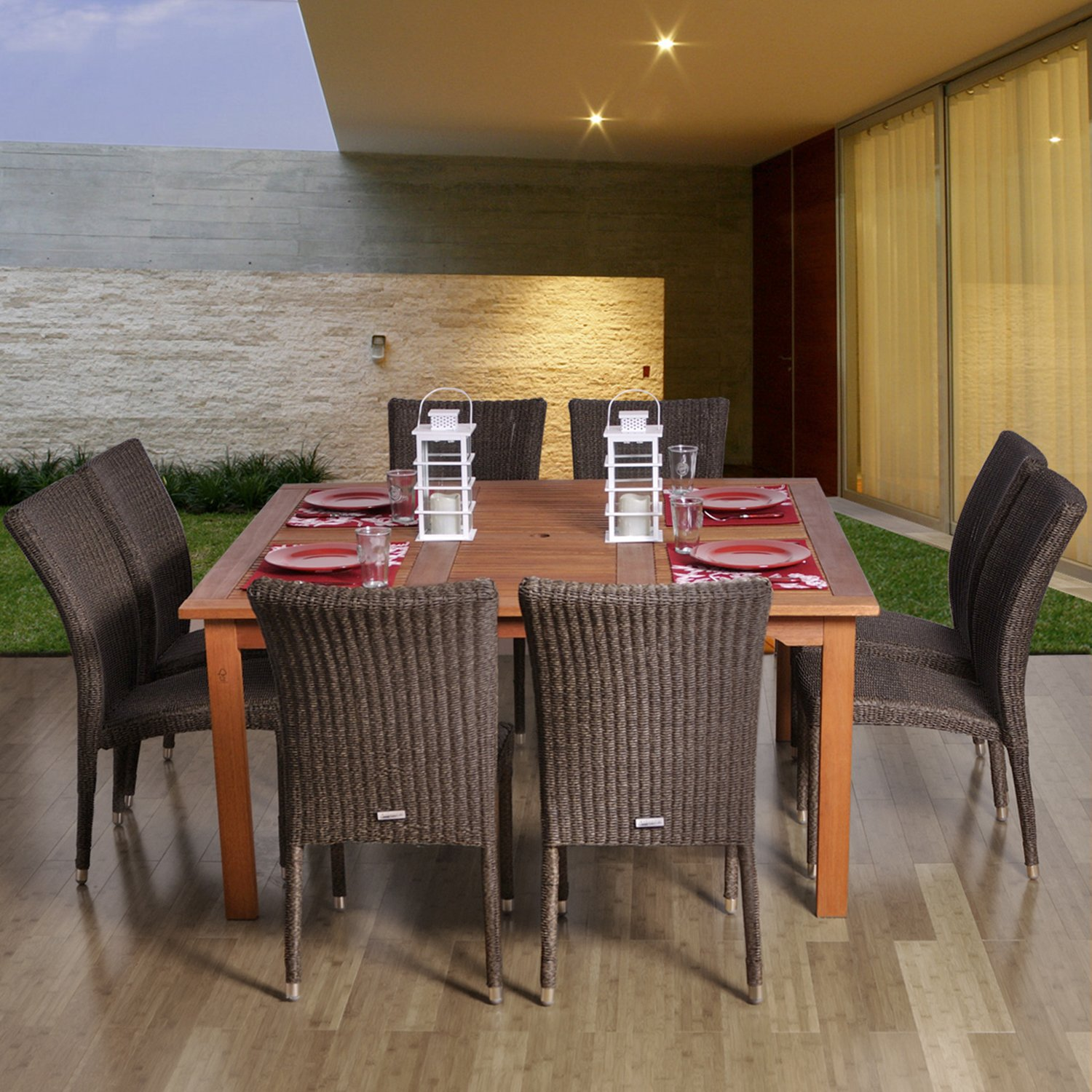 Amazon Amazonia Provence 9 Piece Dining Set Outdoor And