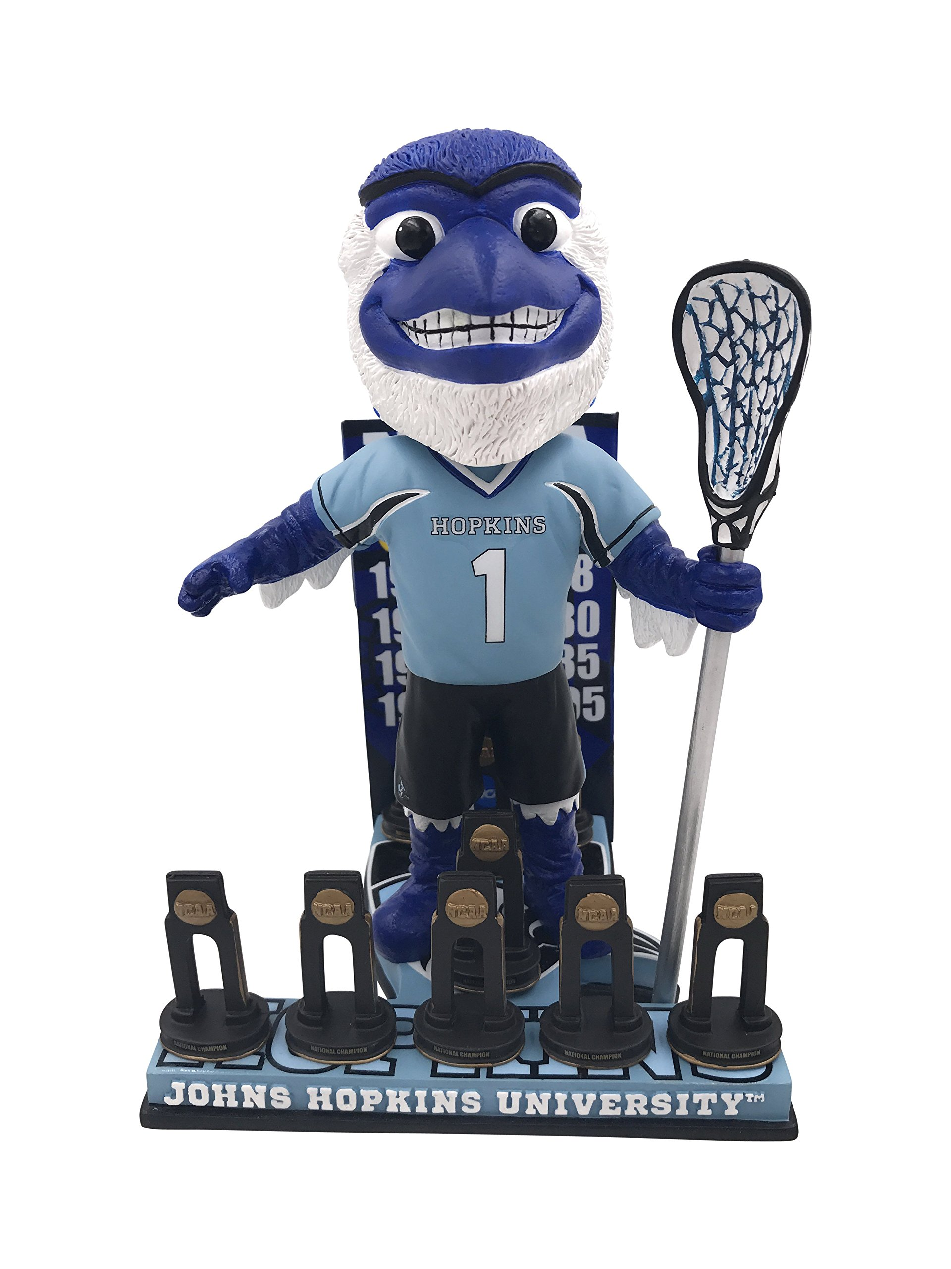 Blue Jay Johns Hopkins University Men's Lacrosse National Champions Bobblehead