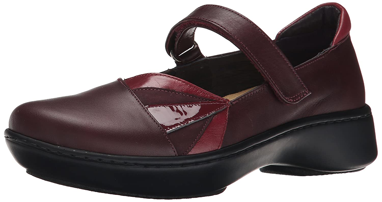 NAOT Women's Adriatic Mary Jane Flat B00IFQWS06 35 EU/4.5-5 M US|Shiraz Leather/Rumba Leather/Violet Nubuck/Beet Red Patent Leather