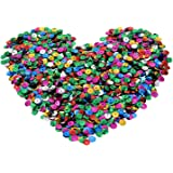 eBoot 7000 Pieces Loose Sequins Cup Sequins Bulk Iridescent Spangles Craft Supplies for Embroidery Applique Arts and Embellishment, Assorted Colors, 6 mm