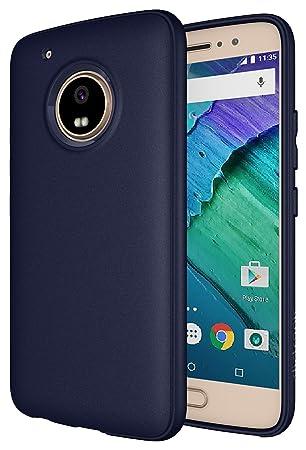 Diztronic - Carcasa Mate de Poliuretano termoplástico para Motorola Moto G5 Plus, Azul Marino