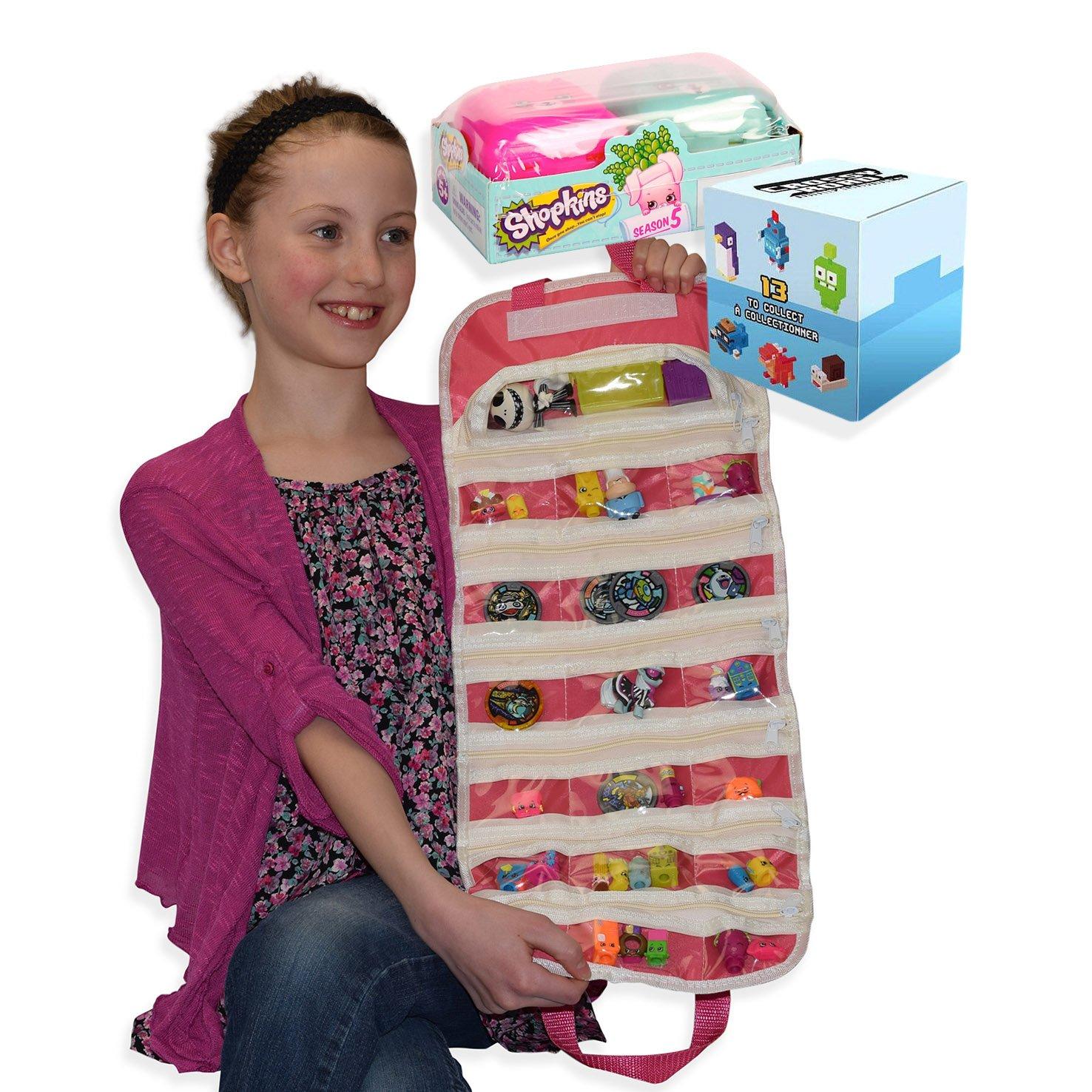 Amazon Crossy Road Shopkins Compatible Toy Organizer Bundle Pink Toys Games