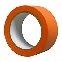 PVC-Band T005 Glatt 50 mm x 33 m orange/Rolle