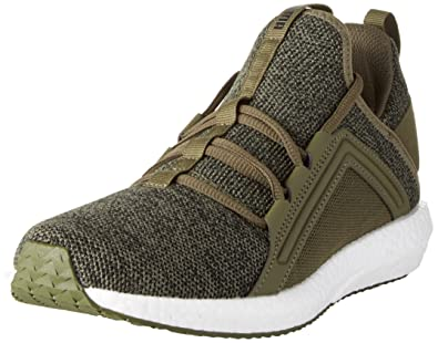 a3fb05f613 Puma Mega NRGY Knit, Chaussures Multisport Outdoor Homme, Vert (Olive  Night-Black