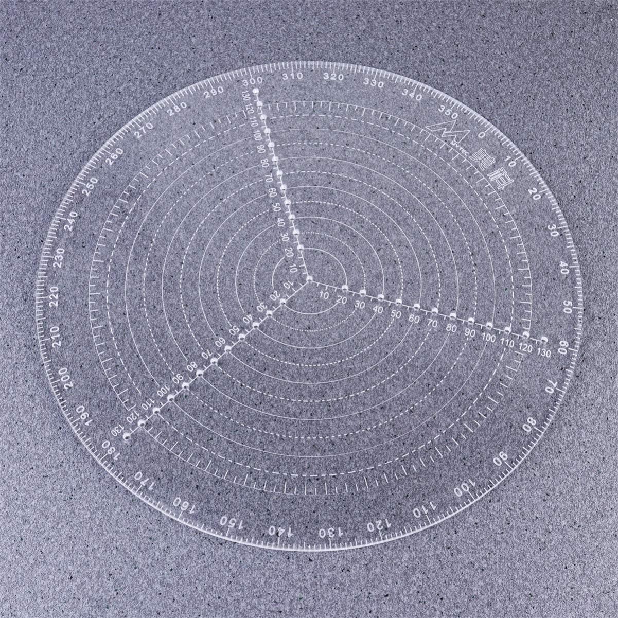 Zeichnen von Kreisen Durchmesser 30Cm DOITOOL 1 St/ück Runder Mittenfinder Kompass Klar Acryl zum Zeichnen von Kreisen Dreharbeiten Und Holzdreher
