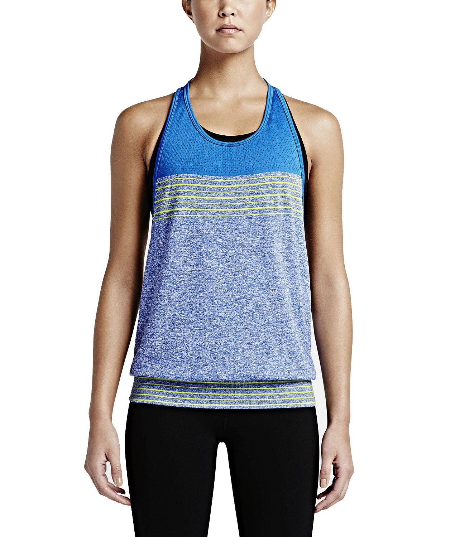 Nike Damen Tanktop Dri-Fit Loose  L|Game Royal/Soar/Volt