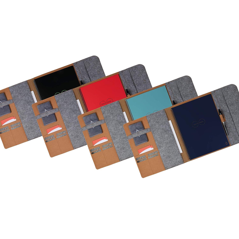 A4 Almacenamiento interior 100/% Reciclable Biodegradable Portapluma Ejecutivo Marr/ón Rocketbook Smart Funda para bloc de notas Cierre magn/ético
