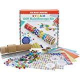 Kid Made Modern STEM Toys for 5 Year Olds STEAM DIY Kaleidoscope Kit - Arts and Crafts for Age 6 and Up