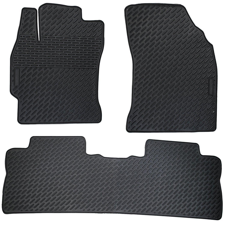 Heavy Duty All Weather Floor Mats BLACK 2014-2015 Toyota Corolla Floor Mats 3-Piece Set