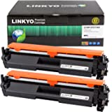 LINKYO Compatible Toner Cartridge Replacement for HP 17A CF217A (Black, 2-Pack)