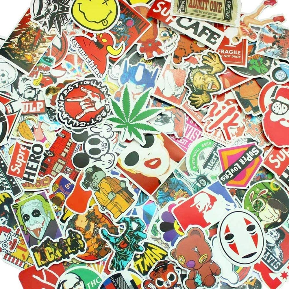 Laptop Stickers 500 pcs Random Sticker Pack Car Stickers Motorcycle Bicycle Luggage Decal Graffiti Patches Skateboard Waterproof Stickers