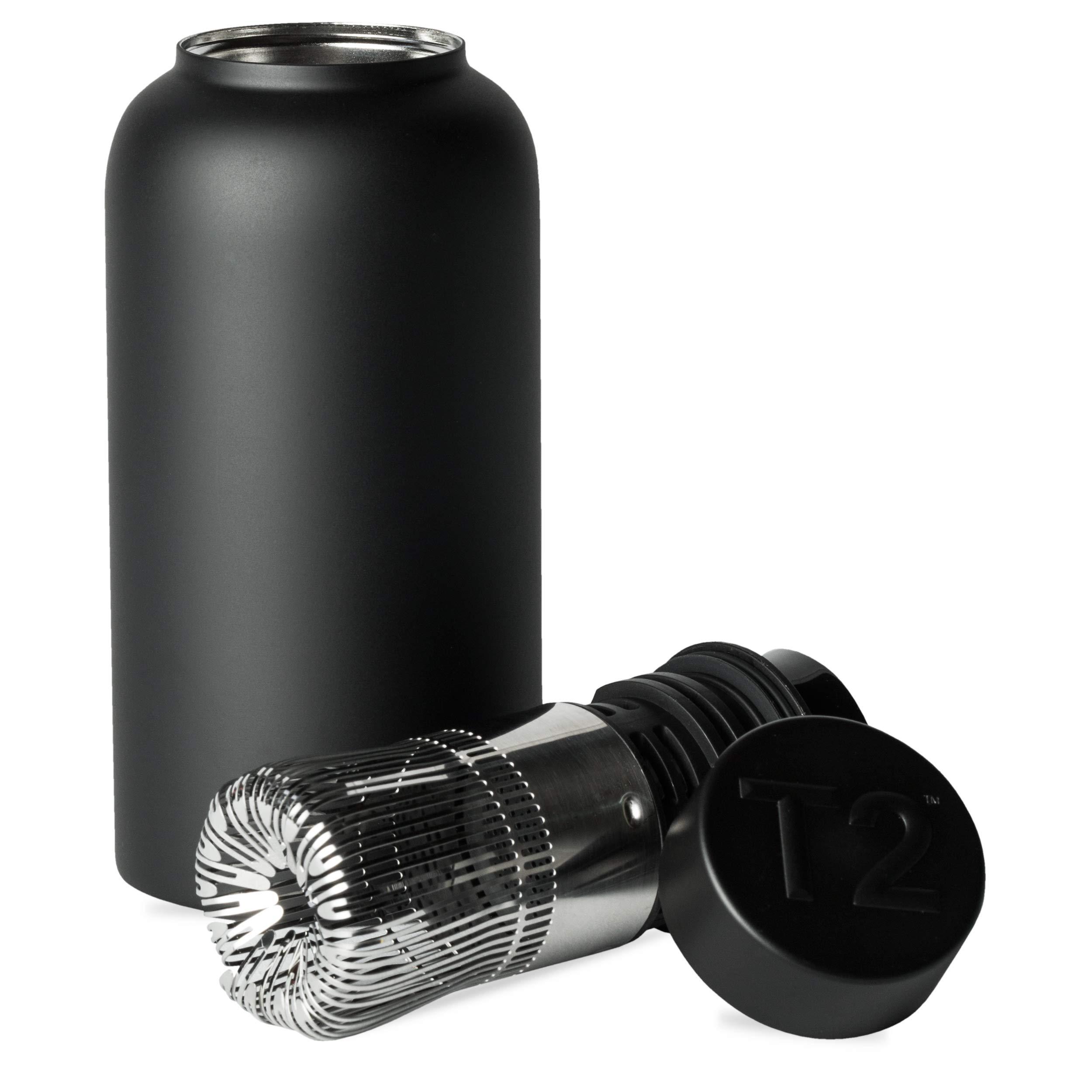 T2 Matcha Flask, 6.6 x 6.6 x 10.3 cm, Black, 35 Piece