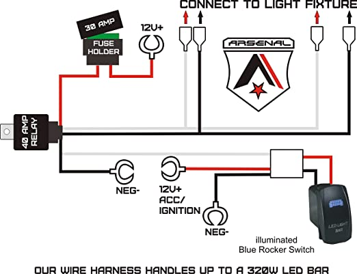 [SCHEMATICS_4FD]  Amazon.com: #1 Heavy Duty Rocker Switch wire harness by Arsenal Offroad 40  Amp Relay Laser Blue LED Rocker Switch 17FT of 14G Wiring UTV SUV Off-Road  Boats RZR Fog Light Rock Bumper | Led Rocker Switch Wiring Diagram |  | Amazon.com