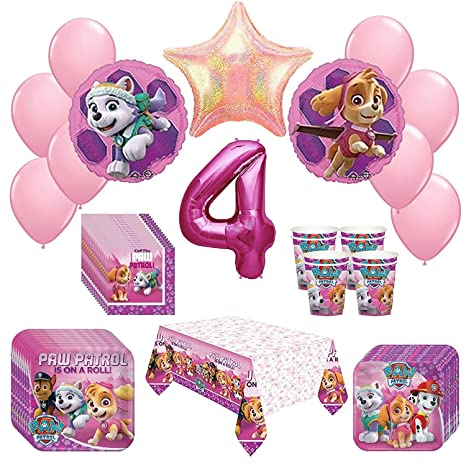 Image Unavailable Not Available For Color Girl Pups Paw Patrol Skye Everest 4th Birthday Party