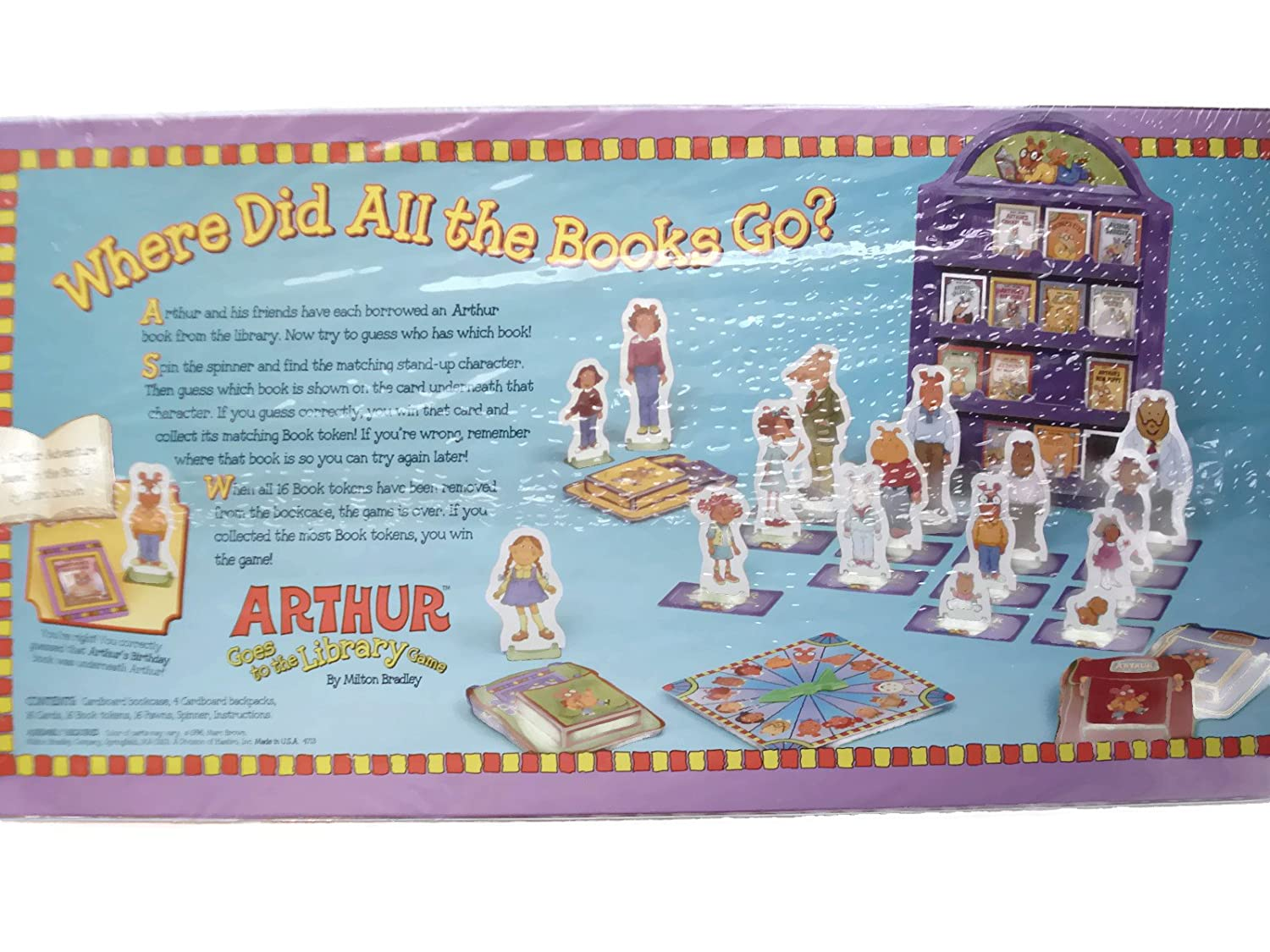 amazon com arthur goes to the library game by marc brown toys