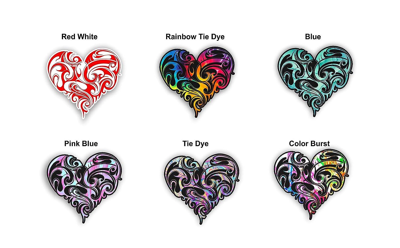 マオリハートトライバルステッカー装飾抽象アートデカールfor Cars TrucksノートパソコンとWindows オレンジ Maori Heart Rainbow Heart オレンジ Tie Dye Rainbow B076HJRTG5, あかい靴:aceae747 --- harrow-unison.org.uk