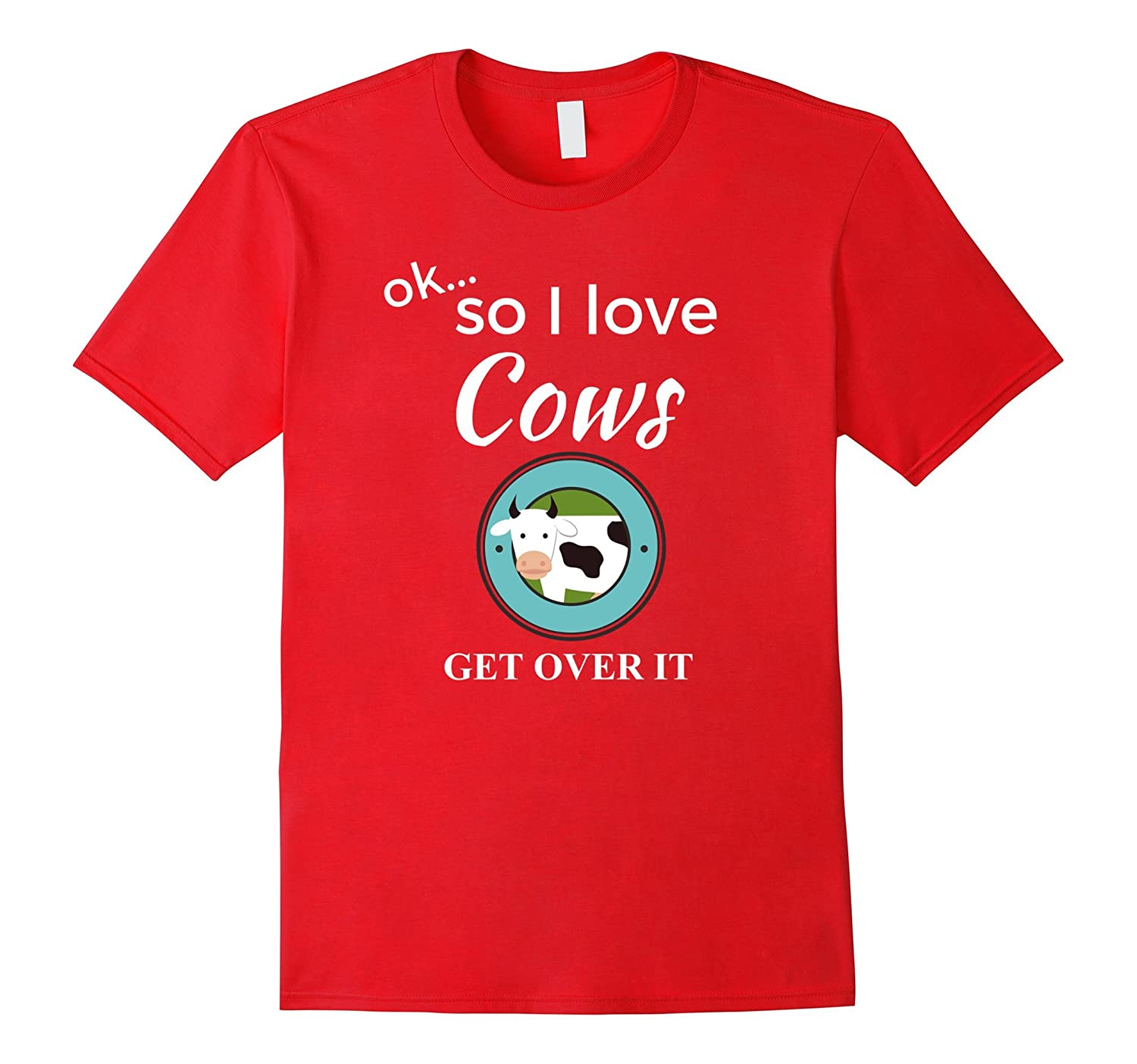 Awesome I Love Cows T-Shirt Fun Cow Shirt for Women Men-PL