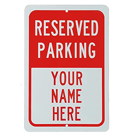 Amazon.com: Parking reservado Sign aluminio 8