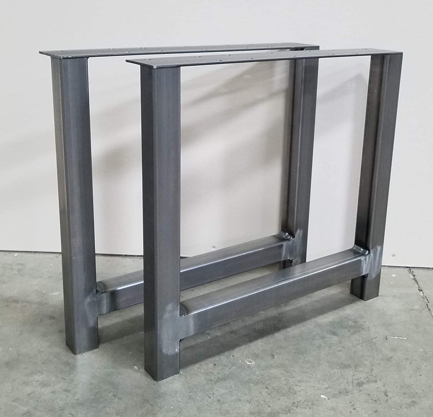 "Amazon.com: 8.8""x8.8"" Modern Industrial H-Shape Square Steel Table"