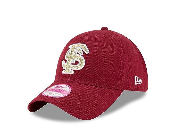 uk availability 54e91 deb7a New Era NCAA Florida State Seminoles Team Glisten LS 9TWENTY Adjustable Cap,  Maroon, One