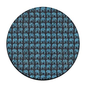 Indien Culture éléphants Tapis De Sol Rond Paillasson Pour - Carrelage salle de bain et tapis amérindien