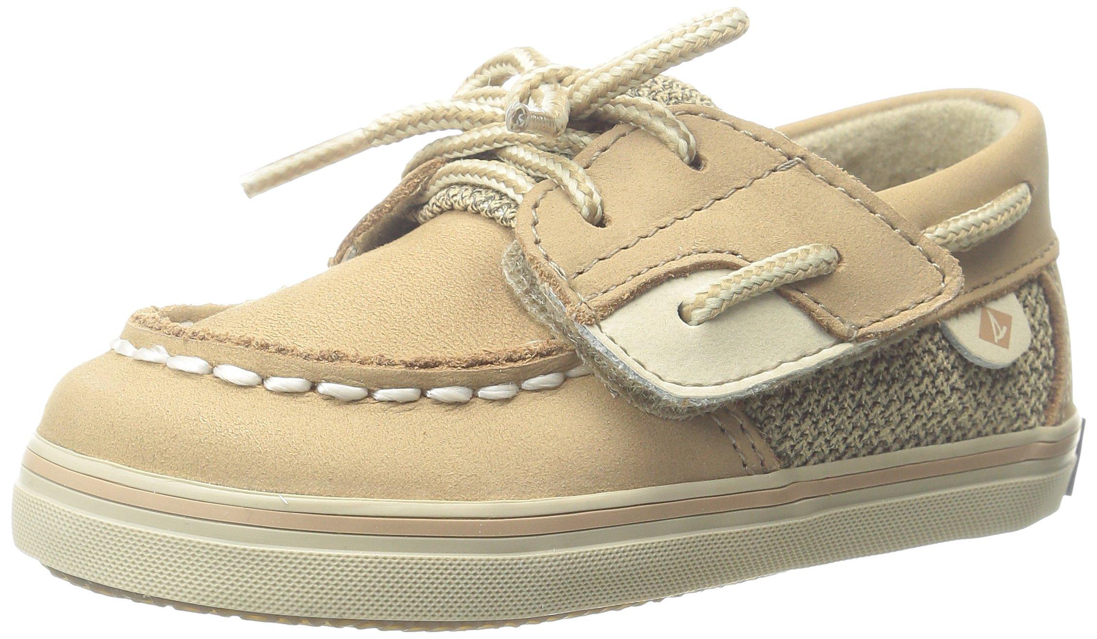Sperry Bluefish Crib A/C Boat Shoe (Infant/Toddler/Little Kid),Linen, 4 M US Toddler