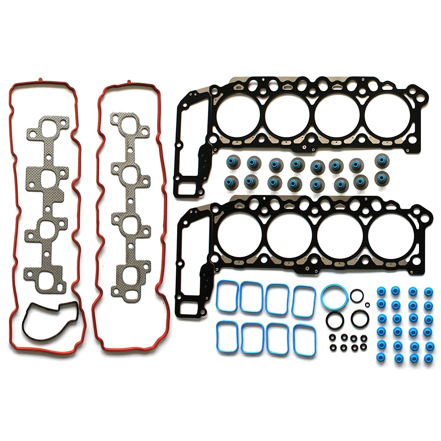 SCITOO Head Gasket Set Replacement for Chrysler Aspen Dodge Dakota Durango Ram 1500 Jeep Commander Grand Cherokee Mitsubishi Raider 04-07 Engine Head Gaskets Kit Sets 058086-5206-1627101