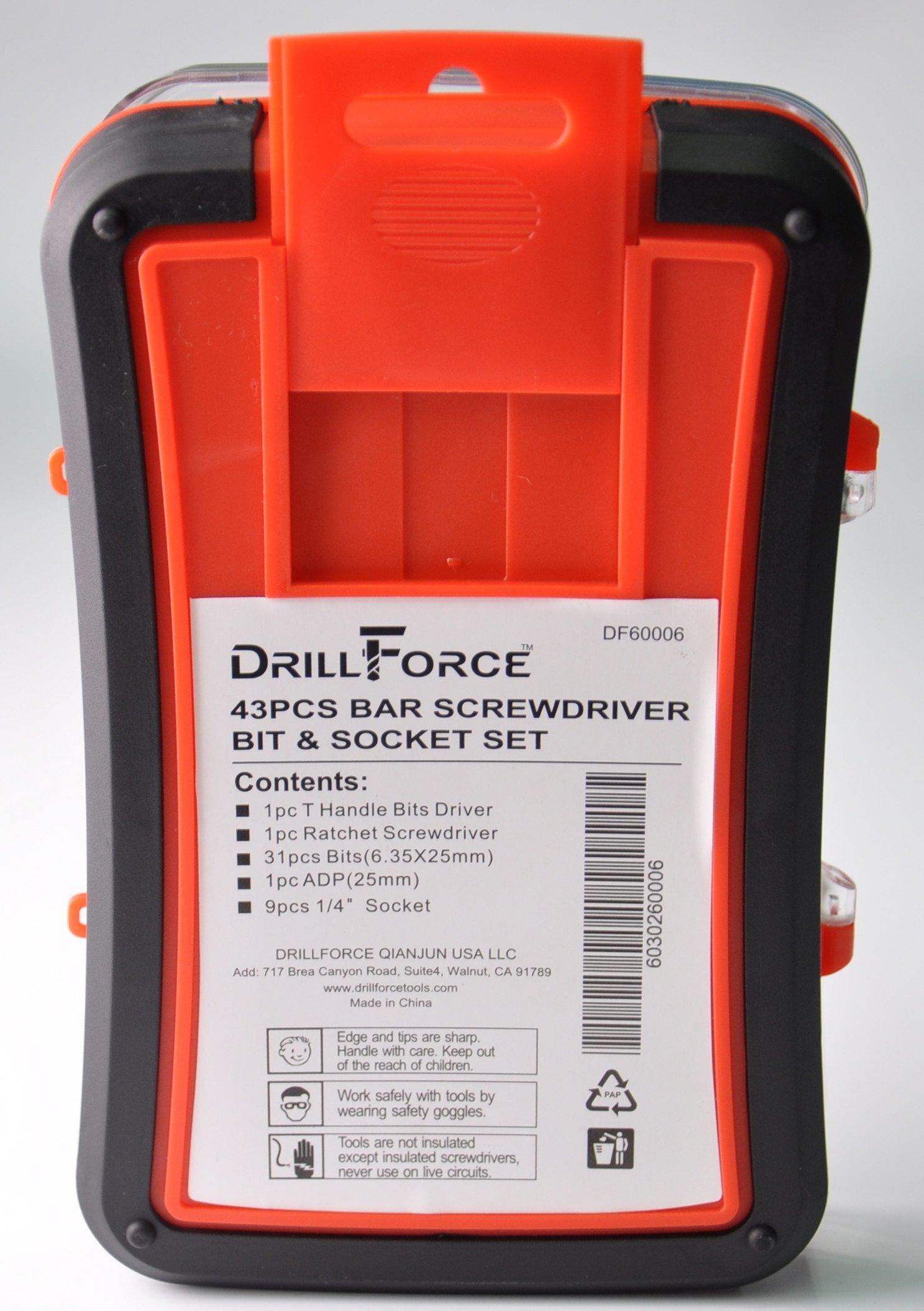 43pc Ratchet Screwdriver Socket set