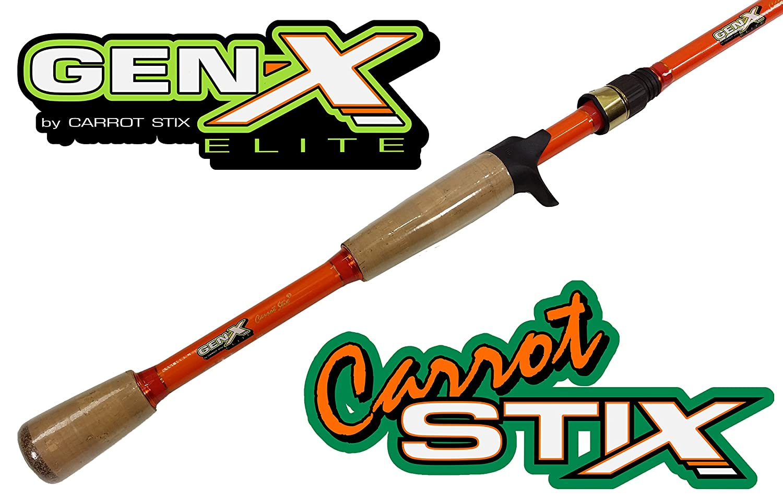 Carrot Stix Gen X Elite Casting Flipping釣りロッド – 7足6インチHeavy Fast – cgxe761h-f-c B01M4Q18GG