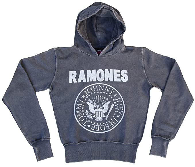 Amplified Mujer - Sudadera con capucha sudadera gris Official The Ramones Rock Star Vintage: Amazon.es: Ropa y accesorios