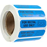 """SBLABELS 500 for Rectal Use Only Stickers / 1.5"""" x .375"""" Blue Stickers with Permanent Adhesive"""