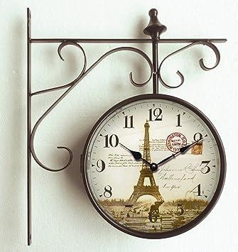 orologio da parete orologio di stazione design parigi torre eiffel 165cm orologio per cucina
