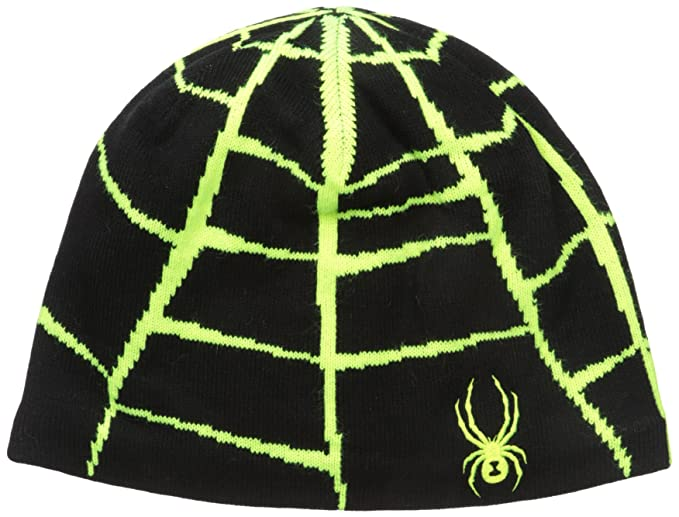 0135cc55ab9ab4 Amazon.com : Spyder Web Hat, Black/Bryte Yellow, One Size : Clothing