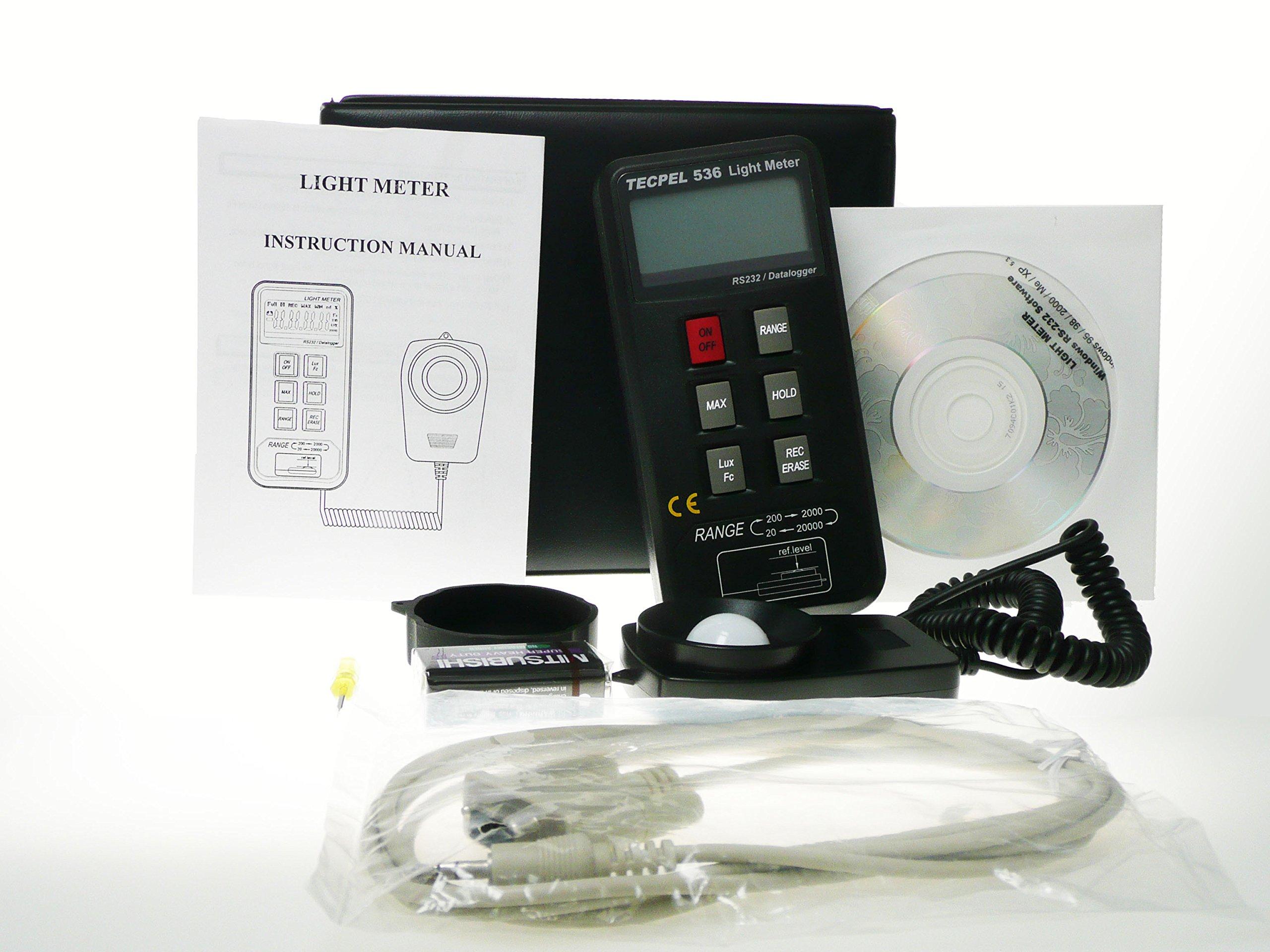 Tecpel Light Meter Data logger DLM-536 by Tecpel