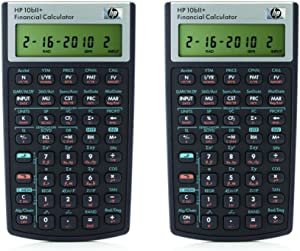 HP 10bII+ Financial Calculator (NW239AA), 2 Pack