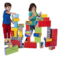 Image: ALEX Toys Big Stack Cardboard Blocks | 40 gigantic cardboard blocks | Printed with different patterns on each side so you can design different looks