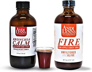 Bundle of Andi Lynn's Raw Apple Cider Tonic (8 oz) with Wild Cherry Bark Syrup (4 oz) – Original Flavor, Made in USA – Handcrafted in Small batches