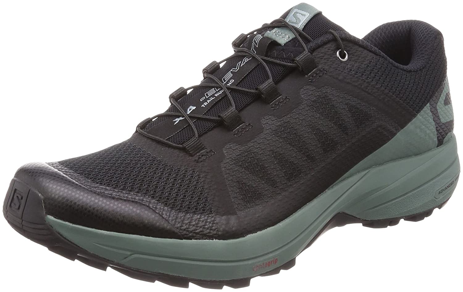 Black, Balsam Green, Black Salomon Men's Xa Elevate Running shoes