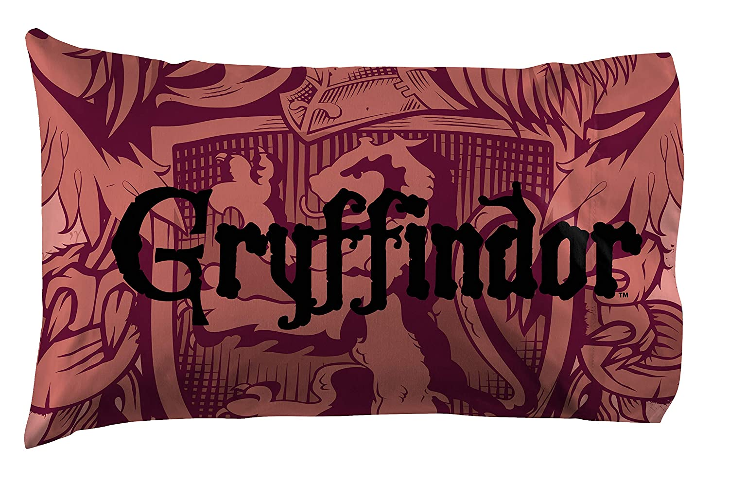 Jay Franco Harry Potter House of Gryffindor Kids Super Soft Double-Sided 1 Pack Pillowcase (Official Harry Potter Product)
