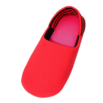 Amazon.com | CasStar Super Soft Cozy 100% Cotton Indoor Slippers with Slip-Resistant Bottom Sole, Machine Washable, Red | Slippers