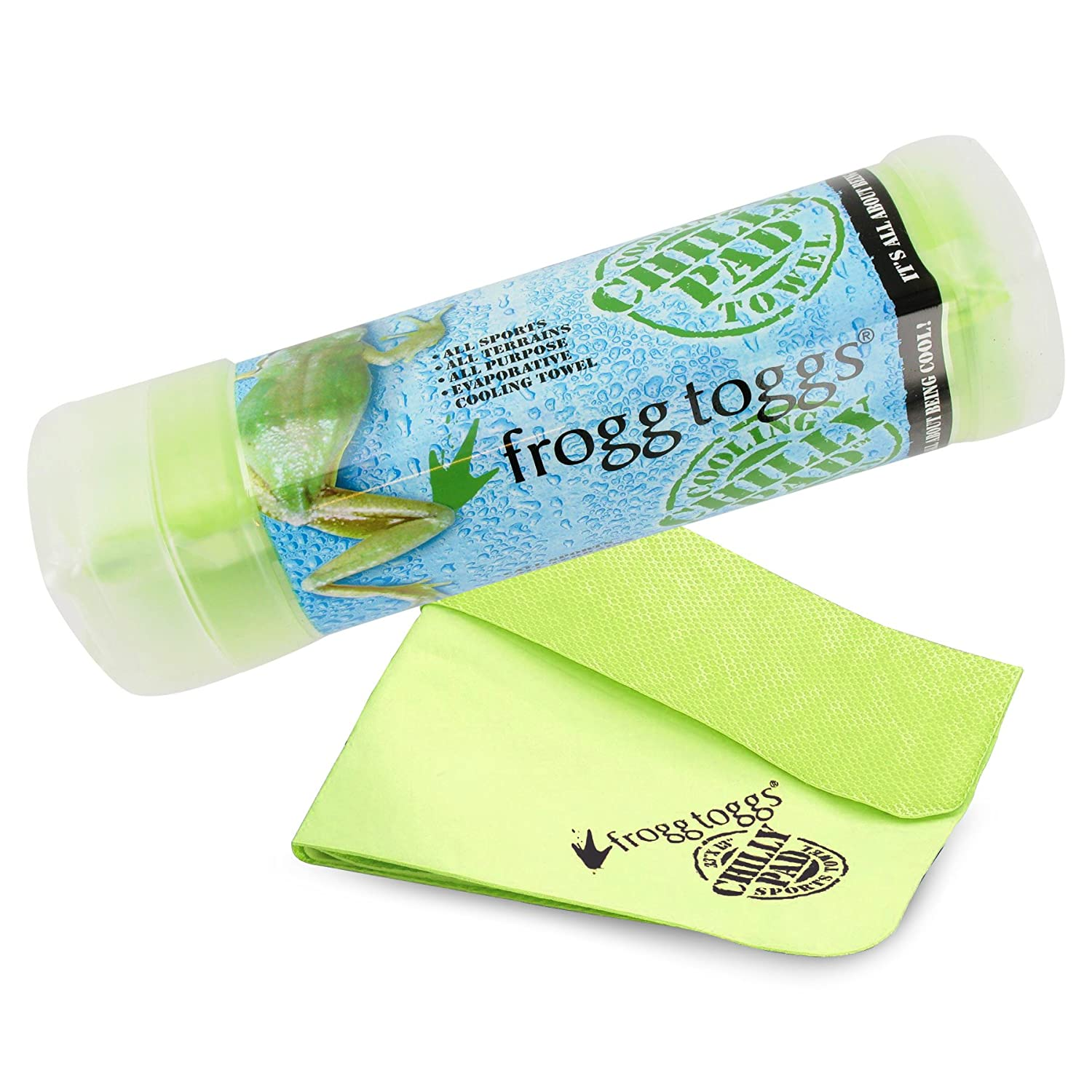 "Frogg Toggs 647484919239 Chilly Pad Cooling Towel, 32.5"" Length x 12.25"" Width, Lime Green"