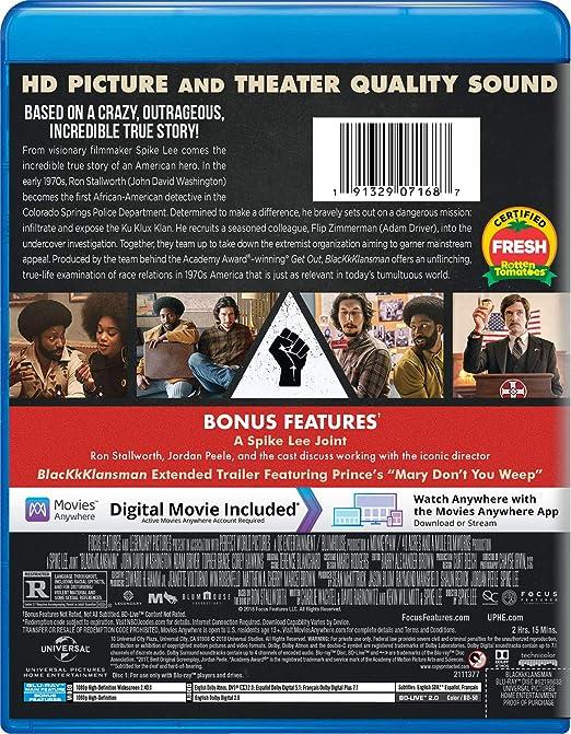 Blackkklansman Edizione: Regno Unito Italia Blu-ray: Amazon ...