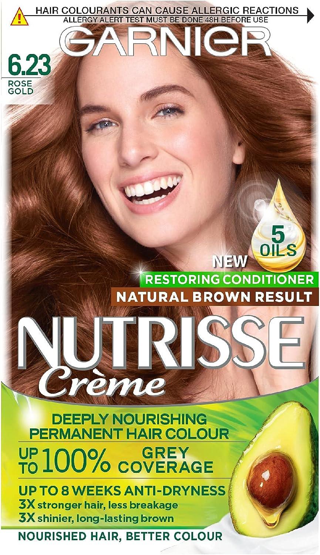 Garnier Nutrisse 6.23 - Tinte para el cabello permanente, Rose ...